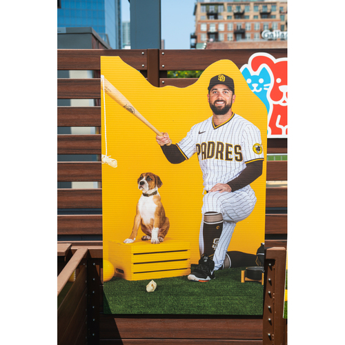 Photo of Greg Garcia Autographed Pet Cutout (Not MLB Authenticated, COA Included) and PupBox