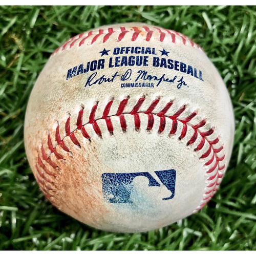 Photo of Game Used Baseball: Francisco Lindor Single and Oscar Mercado Ball in Dirt Against Jalen Beeks - August 31, 2019 v CLE