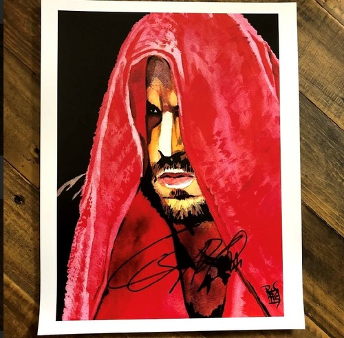 Photo of Cesaro SIGNED 11 x 14 Rob Schamberger Print (Preparedness Is Key)