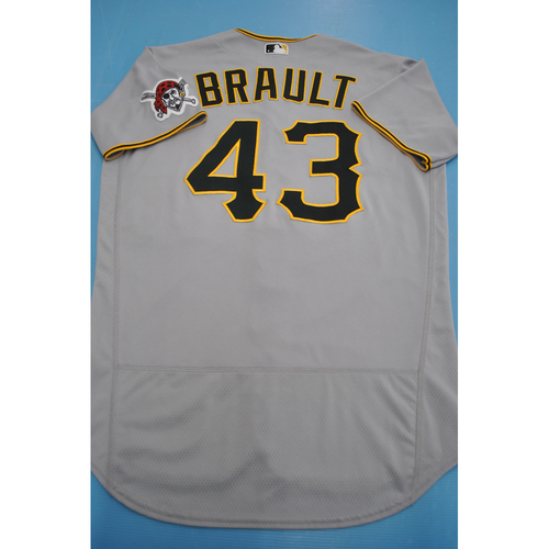 Steven Brault 2020 Team-Issued Road Gray Jersey