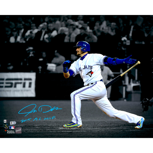 "Photo of Josh Donaldson Toronto Blue Jays Autographed 16"" x 20"" Spotlight Photograph with 2015 AL MVP Inscription"