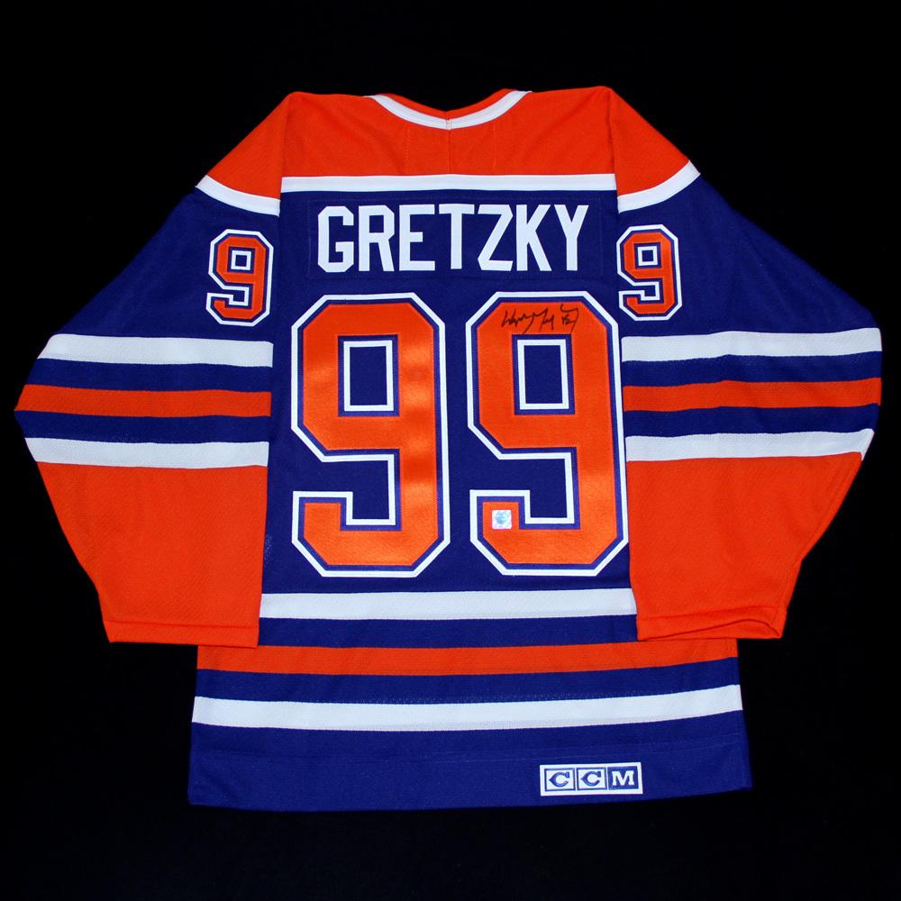 the best attitude 17dc4 1b7fb Wayne Gretzky #99 - Autographed Edmonton Oilers Vintage ...