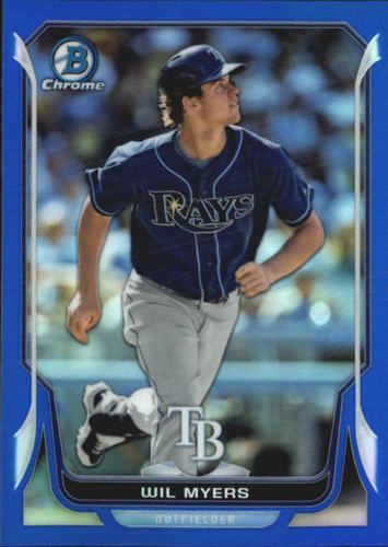 Photo of 2014 Bowman Chrome Blue Refractors #145 Wil Myers