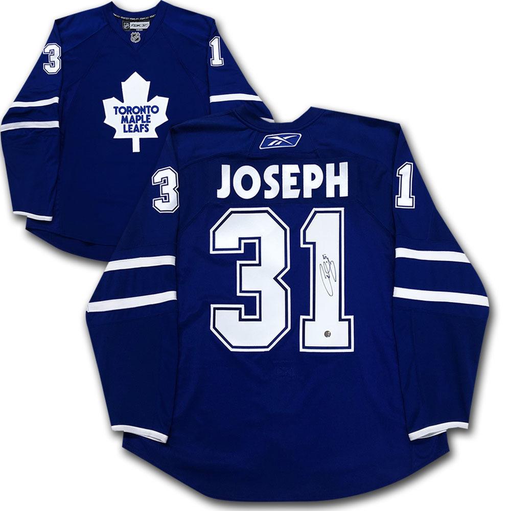 Curtis Joseph Autographed Toronto Maple Leafs Authentic Pro Jersey