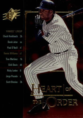 Photo of 2000 SPx Heart of the Order #H1 Bernie Williams