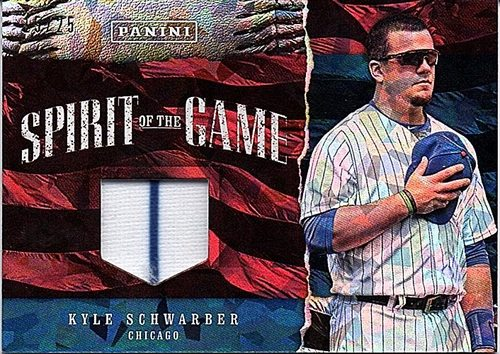 Photo of 2017 Panini Father's Day Spirit of the Game Kyle Schwarber Jersey 15/25