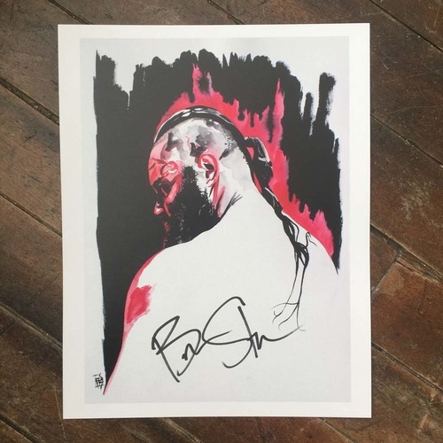 Braun Strowman SIGNED 11 x 14 Rob Schamberger Print