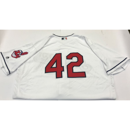Photo of Yan Gomes Game-Used 2017 #42 Jersey
