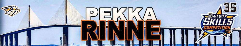 Pekka Rinne Nashville Predators Event-Used #35 Locker Nameplate from All-Star Skills Competition