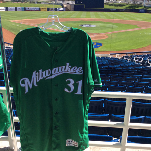 Photo of Carlos Subero 2018 Team-Issued St. Patrick's Day Jersey
