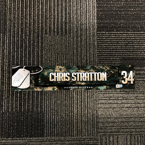 Photo of San Francisco Giants - 2018 Memorial Day Locker Tag - Chris Stratton