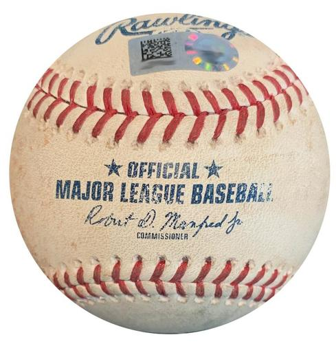 Photo of Game-Used Baseball from Pirates vs. Cubs on 7/31/18 - Jon Lester Groundout