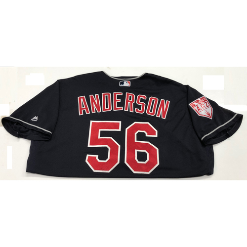 Photo of Cody Anderson 2019 Team-Issued Spring Training Jersey