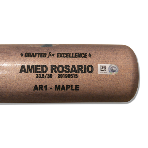 Photo of Amed Rosario #1 - Game Used Cracked Bat - Mets vs. Tigers - 5/26/2019