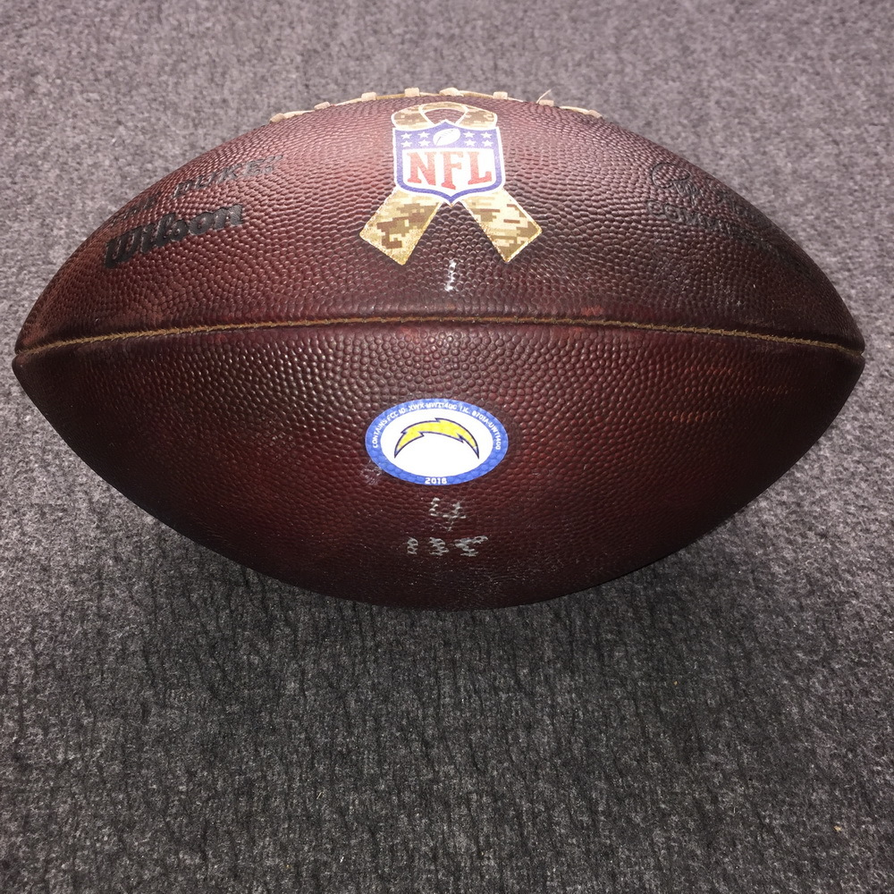 STS - Chargers Game Used Authentic Football (11/18/19)
