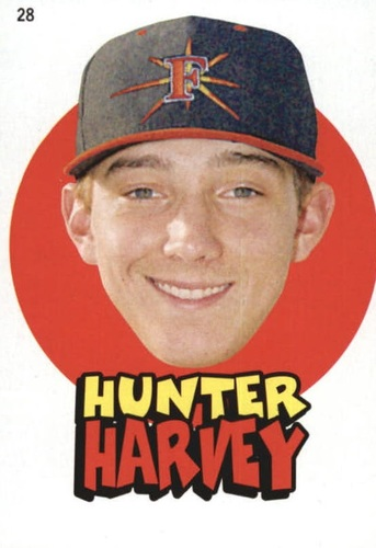 Photo of 2016 Topps Heritage Minors '67 Topps Stickers #28 Hunter Harvey