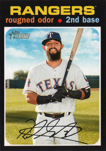 Photo of 2020 Topps Heritage #38 Rougned Odor
