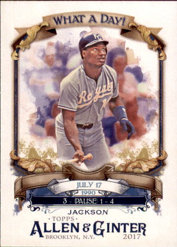Photo of 2017 Topps Allen and Ginter What a Day #WAD37 Bo Jackson