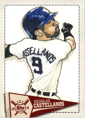 Photo of 2019 Topps Big League Star Caricature Reproductions #SCRNC Nicholas Castellanos