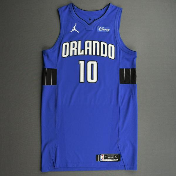 Image of Evan Fournier - Orlando Magic - Kia NBA Tip-Off 2020 - Game-Worn Statement Jersey - Scored Team-High 25 Points