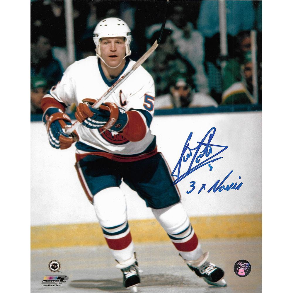 Denis Potvin Autographed New York Islanders 8X10 Photo w/3X NORRIS Inscription