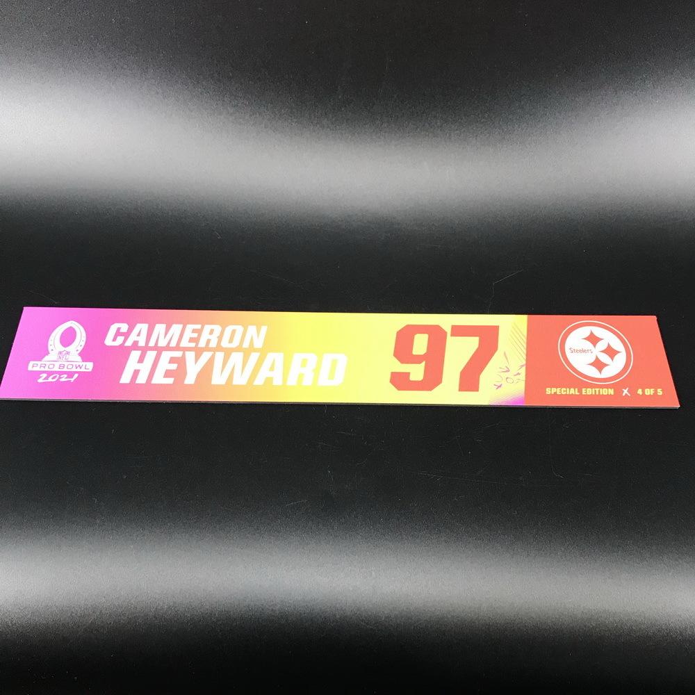 NFL - Steelers Cameron Heyward 2021 Pro Bowl Locker Nameplate Special Edition #4 of 5