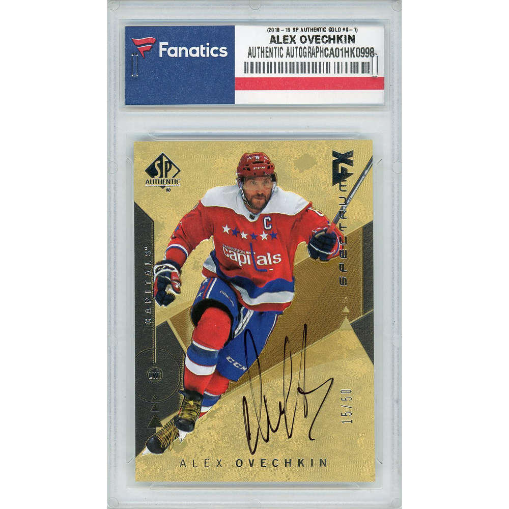 Alex Ovechkin Washington Capitals Autographed 2018-19 Upper Deck SP Authentic Spectrum FX Gold #S-1 Card - Limited Edition of 50