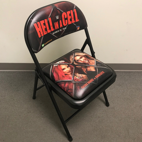 Photo of Sasha Banks & Charlotte SIGNED Hell in a Cell 2016 Commemorative Event Chair