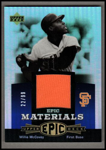 Photo of 2006 Upper Deck Epic Materials Blue #WM Willie McCovey Jsy/99