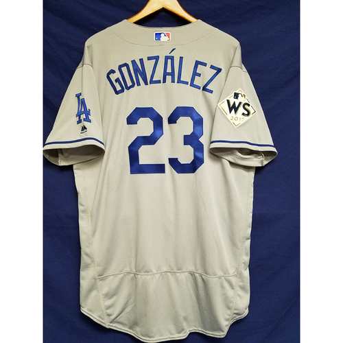 Photo of Adrian Gonzalez 2017 Road World Series Team-Issued Jersey