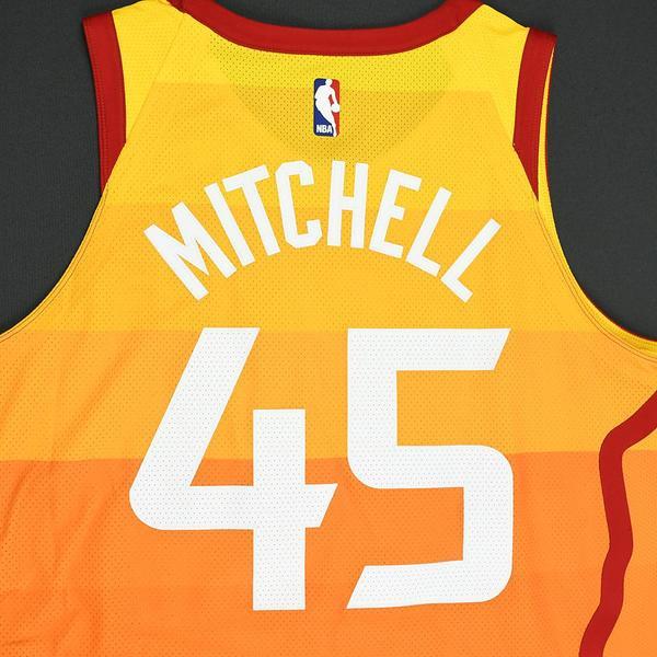 newest e09bc 37b00 Donovan Mitchell - Utah Jazz - 2018 Verizon Slam Dunk ...
