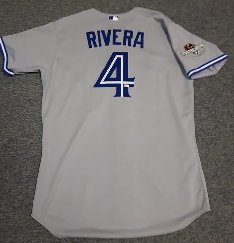 Photo of Authenticated Team Issued Jersey - #4 Luis Rivera (2015 Postseason). Size 46