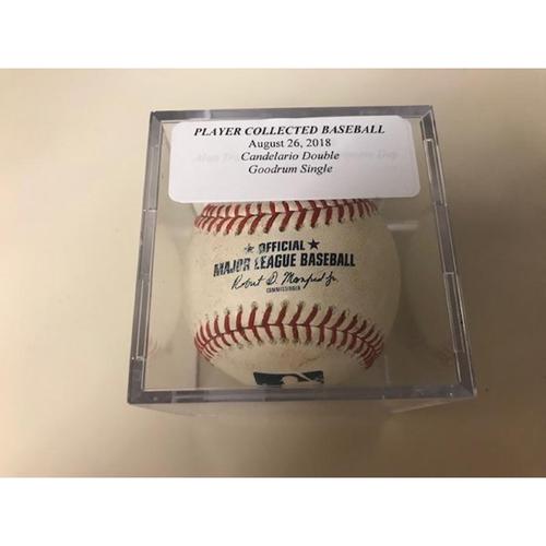 Photo of Game-Used Baseball: Jeimer Candelario Double and Niko Goodrum Single