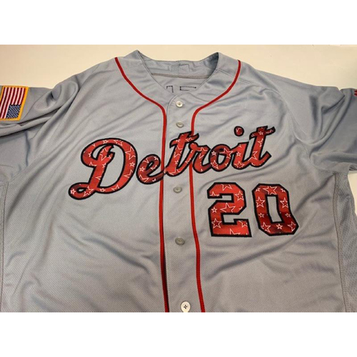 Photo of Team-Issued Stars and Stripes Jersey: Lloyd McClendon
