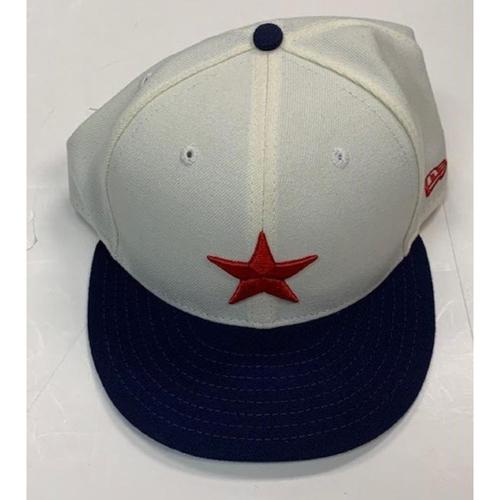 Photo of Game-Used Detroit Stars Cap: #54