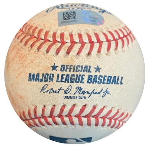 Photo of Game-Used Baseball from Pirates vs. Cubs on 8/1/18 - Jason Heyward Double