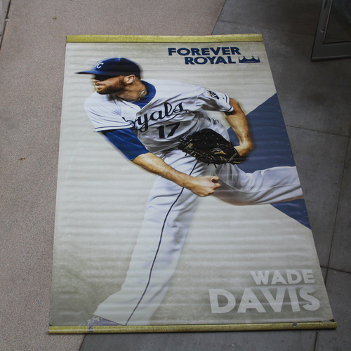 Photo of Extra Large Team-Issued Banner: Wade Davis Forever Royal
