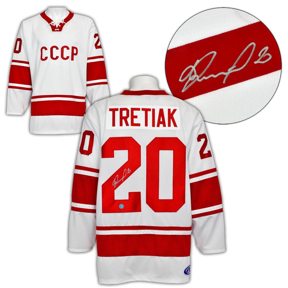 Vladislav Tretiak CCCP-Russia Autographed 1972 Summit Series White Hockey Jersey