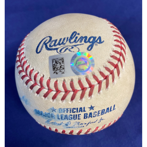 Game-Used Baseball - Albert Pujols Double