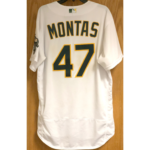 Photo of Game-Used Jersey: Frankie Montas - 9/8/20 vs HOU (Win #3)