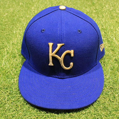 Game-Used 2020 Gold Hat: Salvador Perez #13 (Size 7 5/8 - DET @ KC 9/25/20)
