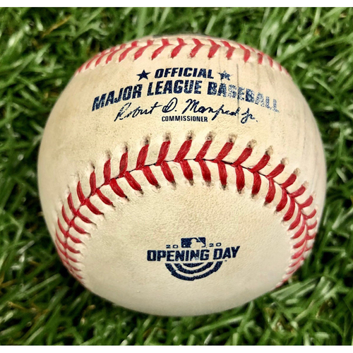 Photo of Game Used Opening Day Baseball: Travis Shaw Walk and Randal Grichuk RBI Single off Charlie Morton - Randal Grichuk First Hit and RBI of Season -  July 24, 2020 v TOR