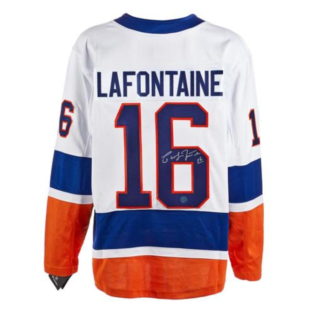 Pat LaFontaine New York Islanders Signed White Fanatics Jersey