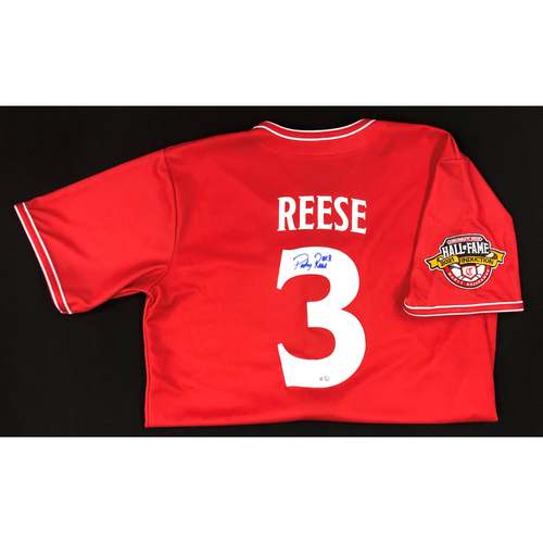 Photo of Pokey Reese - AUTOGRAPHED Game Used Jersey: Reds Hall of Fame Legends Game