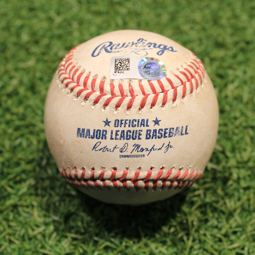 Photo of Game-Used Baseball: Tommy Edman 53rd Career Double (STL@KC 8/13/21)
