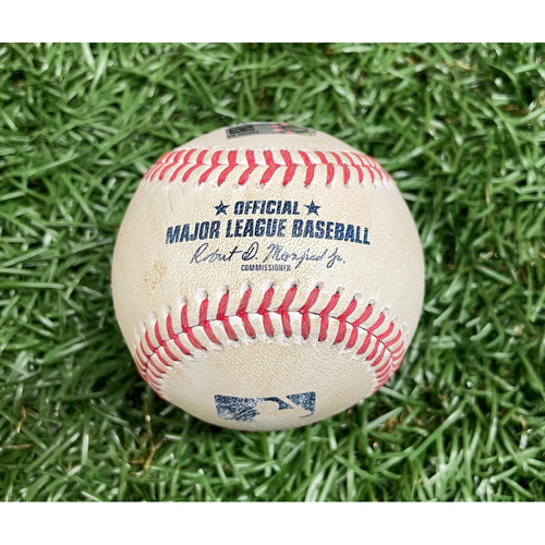 Photo of Game Used ALDS Baseball: Alex Verdugo single off Shane McClanahan - Top 4 - October 7, 2021 v BOS