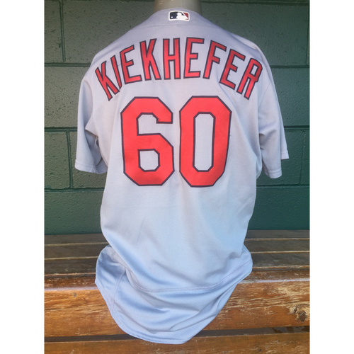 Cardinals Authentics: Dean Kiekhefer Road Grey Jersey