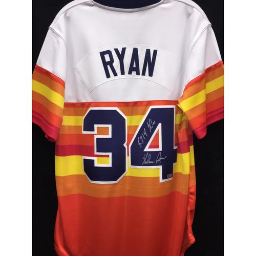 Nolan Ryan Autographed Astros Jersey