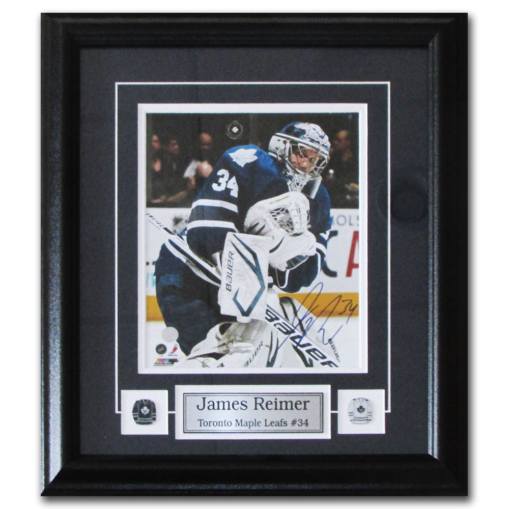 James Reimer Autographed Toronto Maple Leafs Framed 8X10 Photo