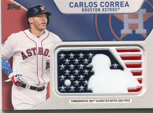 Photo of 2017 Topps Independence Day MLB Logo Patch #IDMLCCO Carlos Correa